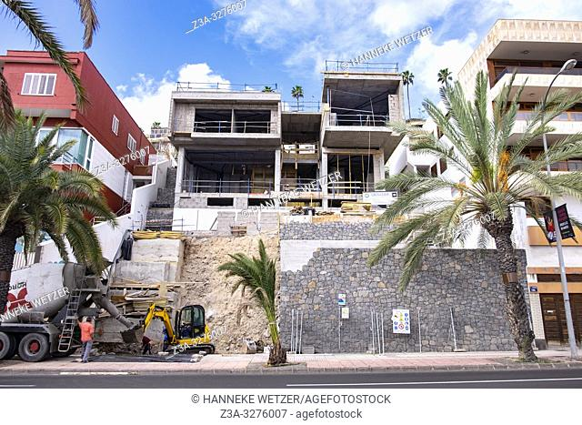 Construction site in Las Palmas de Gran Canaria