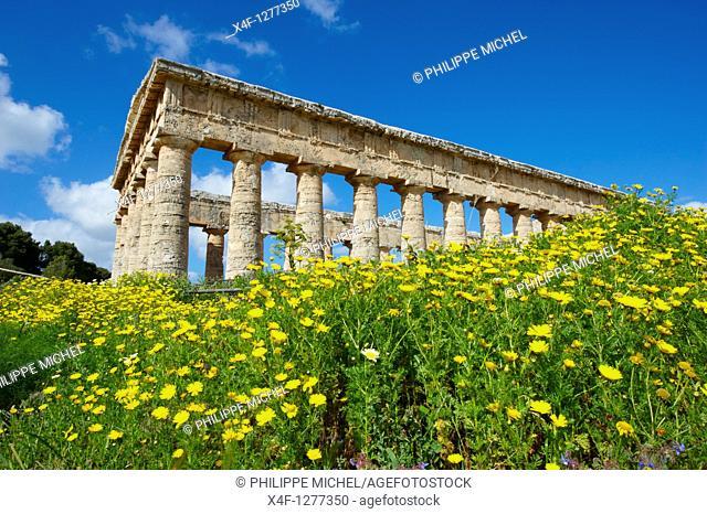 Italy, Sicily, Trapani district, Segesta, Greek temple