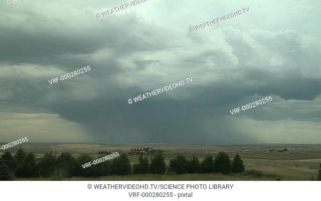 Timelapse footage of an isolated thunderstorm rolling across the high plains. Filmed in Colorado, USA, in summer