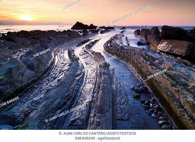 Sunset Beach Barrika. Biscay. Spain