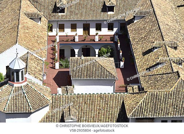 Spain, Andalusia, Granada, World Heritage Site, The Albaicin seen from the Alhambra