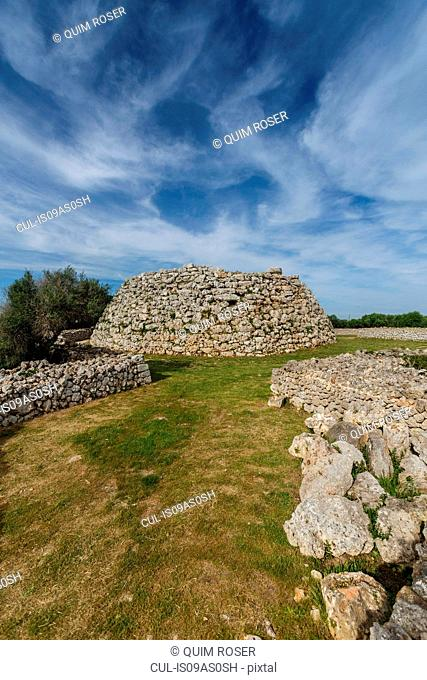 Talaiot at Talati de Dalt, ancient Talayotic ruins, Menorca, Spain