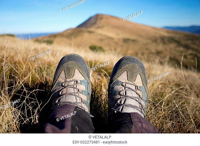 Hiking in Caucasus mountains