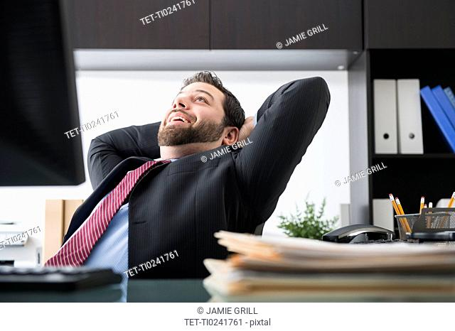 Portrait of cheerful businessman