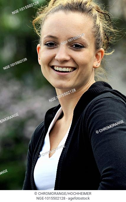 Young woman is happy, laughing