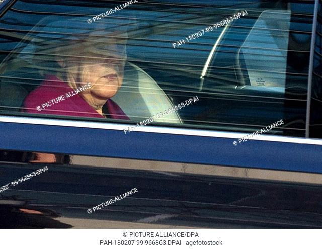 Angela Merkel, Chancellor and Chairwoman of the CDU, leaving the party headquarters of the CDU, the Konrad Adenauer house