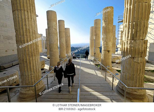 Propylaea, the Acropolis, Athens, Greece, Europe
