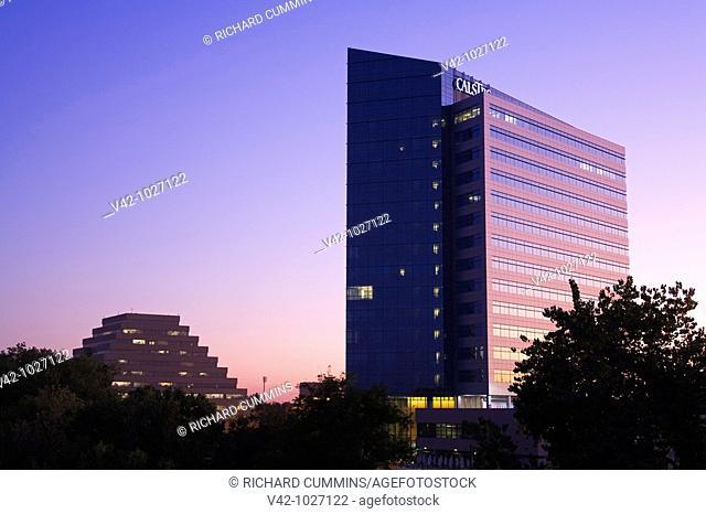 CalSTRS building in Sacramento, California, USA California State Teachers Retirement System