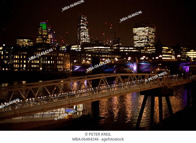 townscape by night, London, England, Great Britain