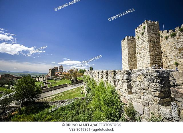 Trujillo Castle (province of Cáceres, region of Extremadura). Spain