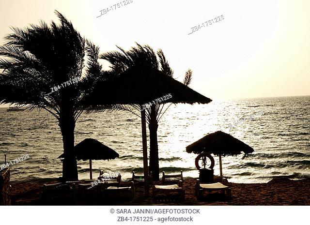 Beach of Aqaba, Red Sea, Jordan, Middle East