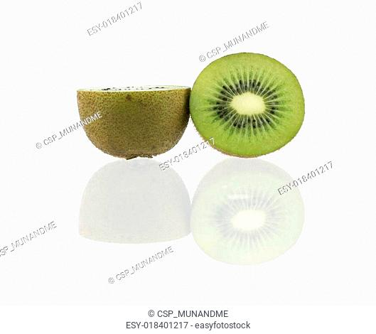 Sliced juicy kiwi fruit