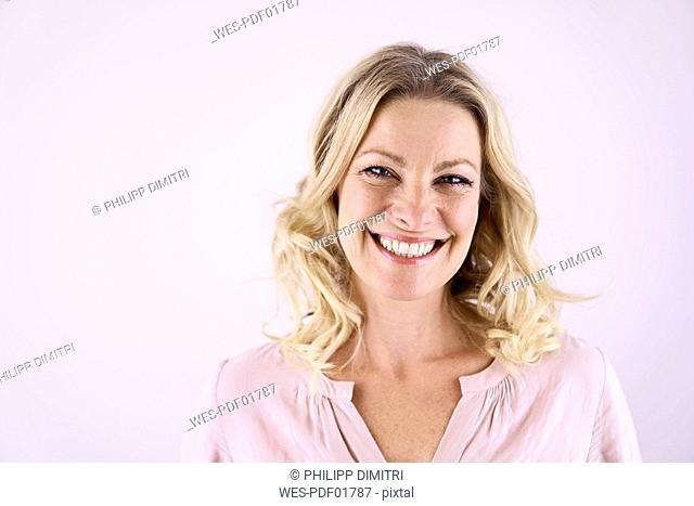 Portrait of smiling blond woman