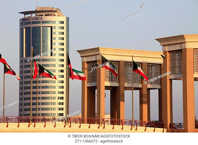 Kuwait, Kuwait City, Souk Sharq Bridge, Ahmad Tower