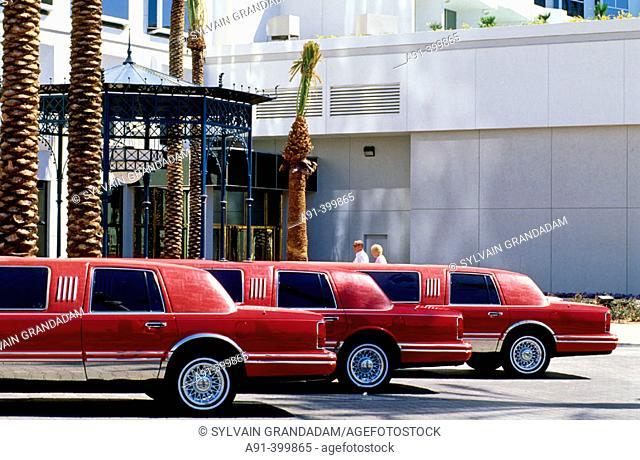 Limos by casino, Las Vegas. Nevada, USA