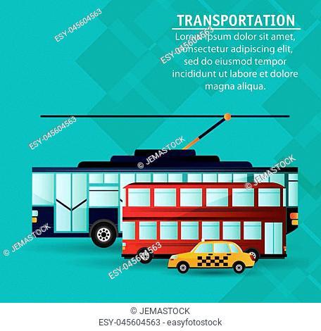 set city public transport vector illustration eps 10