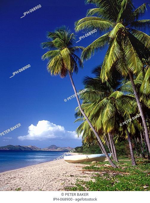Pinney's Beach - A beautiful tropical beach on the island of Nevis