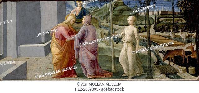 The Meeting at the Golden Gate, c1440-1445. Artist: Filippo Lippi