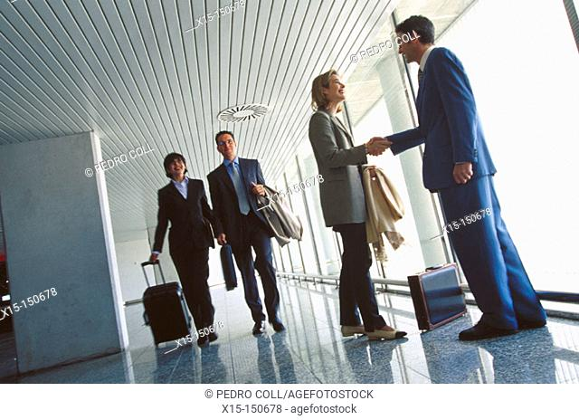 Businesspeople at the airport