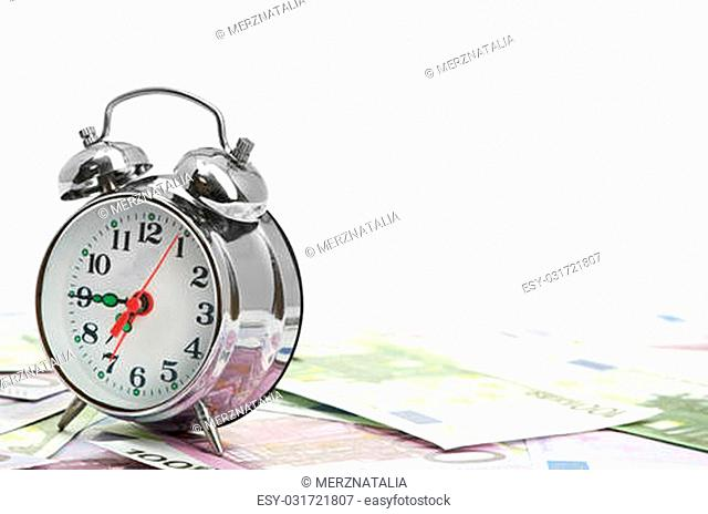 Alarm clock for euro banknotes