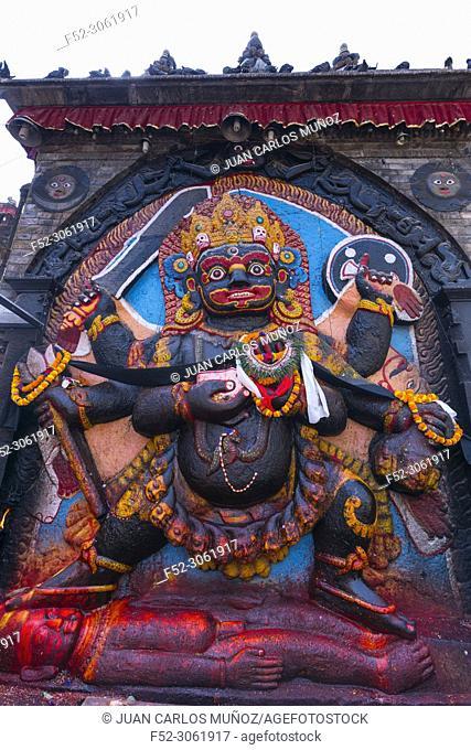 Kali Goddess, Durbar Square, Kathmandu City, Kathmandu Valley, Nepal, Asia