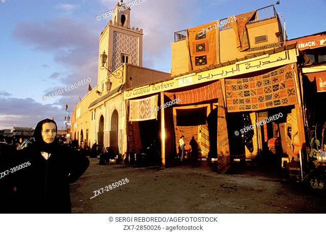 Cafes and Restaurants on Place Djemaa el Fna, Marrakech, Morocco