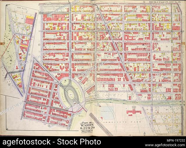 Brooklyn, Vol. 1, Double Page Plate No. 15; Part of Wards 9, 22 & 29, Section 4; [Map bounded by Atlantic Ave., Franklin Ave., Carroll St