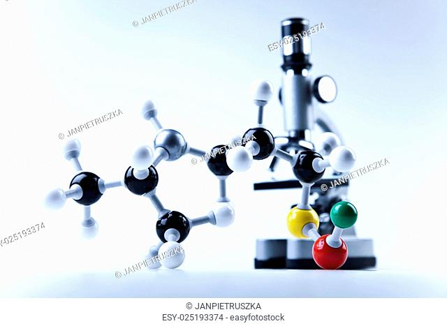 Molecular construction, bright modern chemical concept