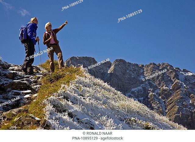 Walking in the Bundner Alps, in between Arosa and Lenzerheide, Graubunden, Switzerland