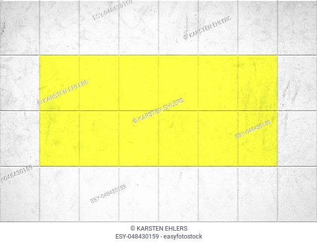 White tiles and yellow tiles texture background