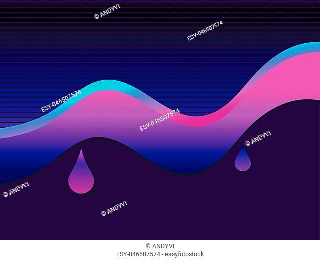 Liquid wave violet color. Modern trend background. Vector illustration