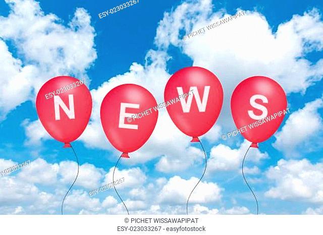 news text on balloon