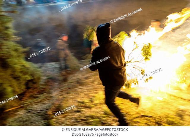 San Antonio fire festivities, Zorita del Maestrazgo, Castellon province, Spain