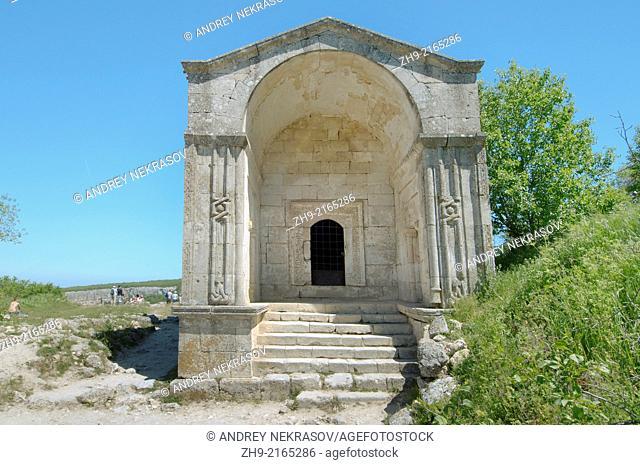 Mausoleum of Dzhanike-Khanym, daughter of Tokhtamys. Çufut Qale, Chufut-Kale (Jewish Fortress) Crimea, Ukraine, Eastern Europe