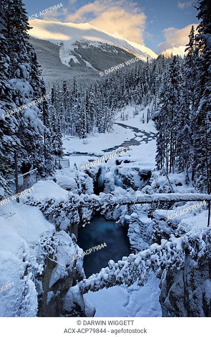 Sunwapta Falls Overlook, Sunwapta River, Jasper National Park, Alberta, Canada