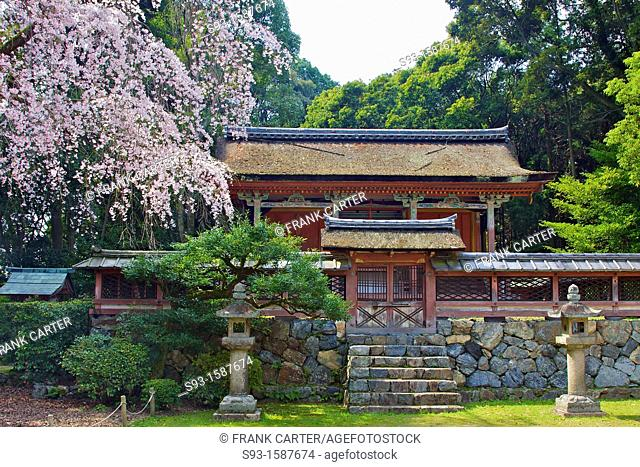 A small temple complex on the grounds of Daigoji temple