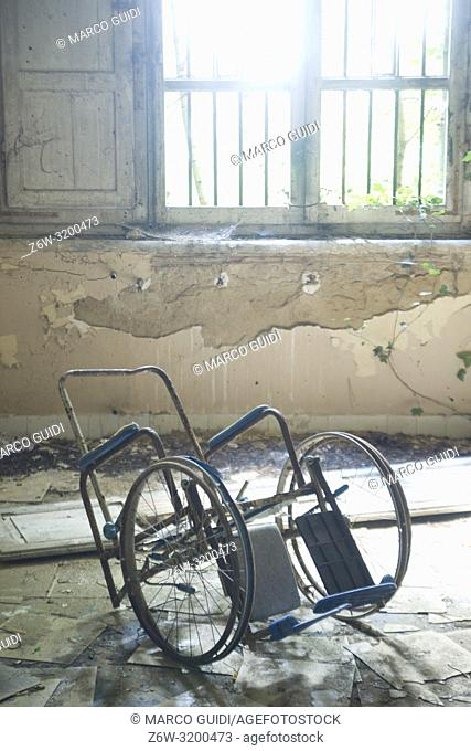 Remains of an old phychiatric hospital in complete abandonment