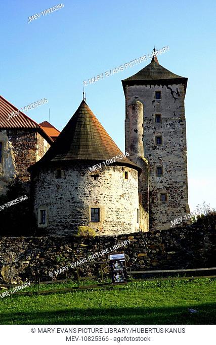 The Czech Republic, Svihov (Schwihau): Towers of Svihov Castle