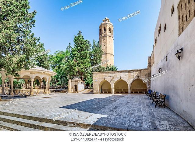 Courtyard of Ulu(Great) Mosque built between 1170-1175 in Sanliurfa,Turkey. 19 July 2018