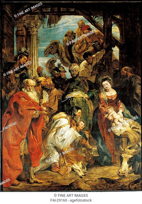 The Adoration of the Magi by Rubens, Pieter Paul (1577-1640)/Oil on canvas/Baroque/1624/Flanders/Royal Museum of Fine Arts
