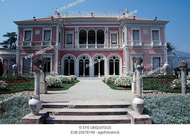 Exterior of Musee Ile de France founded by Madame Ephrussi Rothschild