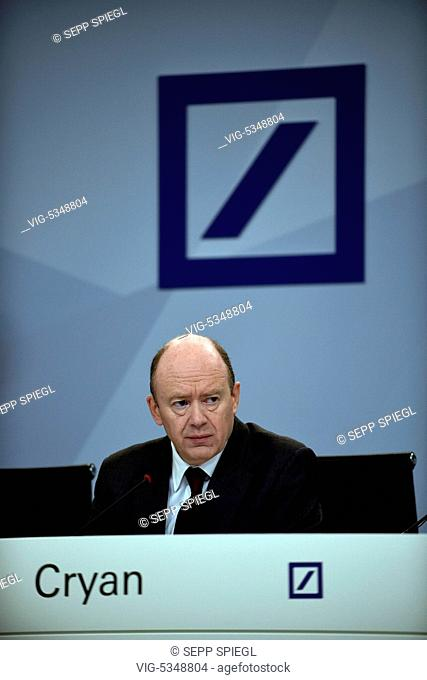 Germany, Frankfurt, 10.29.2015 Press Conference of the German Bank AG to the details of the 2020 Strategy Photo: John Cryan