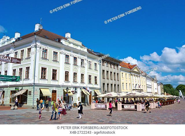 Raekoja plats, town hall square, Tarto, Estonia, Baltic States, Europe