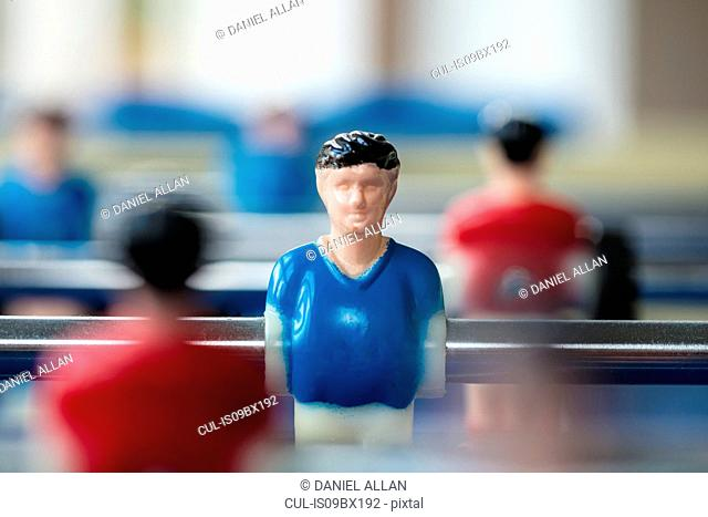 Figure of footballer on table football