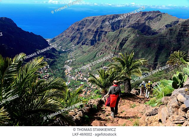 Hiking near El Cercado, Valle Gran Rey, La Gomera, Canary Islands, Spain
