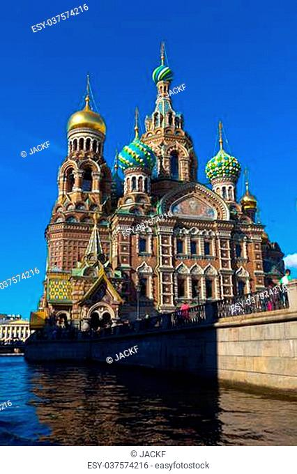 Views of Saint Petersburg. Church of the Savior on Blood in summer