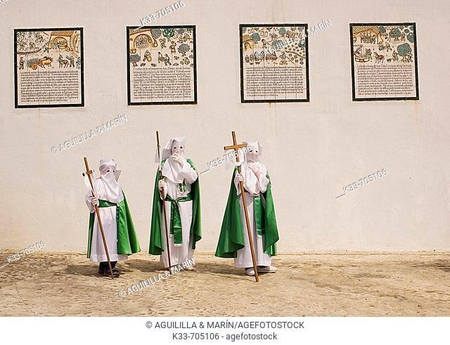 Holy Week. Frigiliana. Malaga, Andalusie, Spain