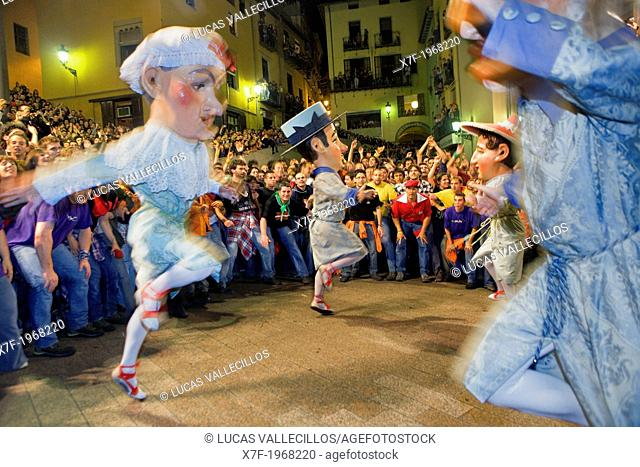 `Nans nous'new dwarf-enanos nuevos dancing.Plaça de Sant Pere.La Patum Masterpiece of Oral and Intangible Heritage by UNESCO.Berga. Barcelona