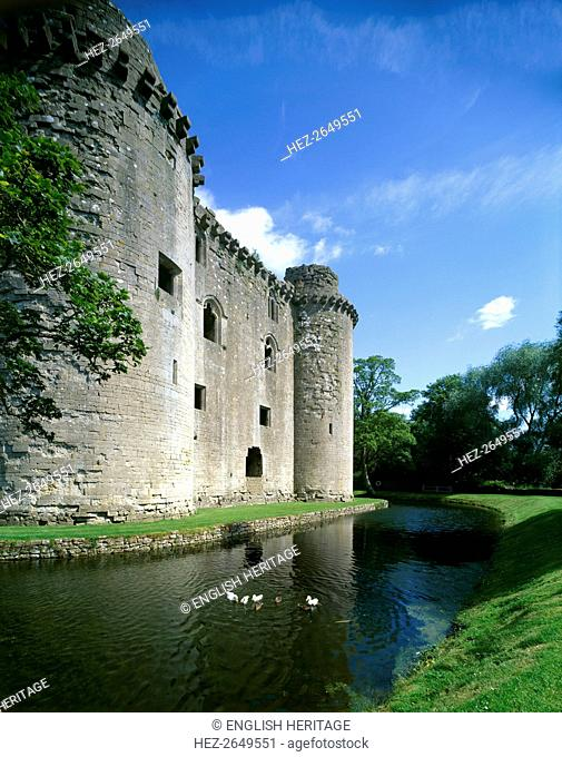 Nunney Castle, c1990-2010. Artist: Unknown