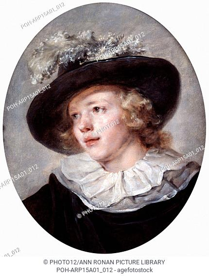 Portrait of a Young Man': Jean-Honore Fragonard (1732-1806) French painter. Oil on canvas